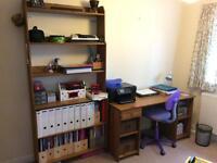 Ikea book shelf and desk