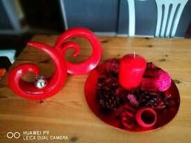 Decors with fragranced candle