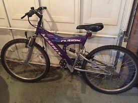 Adults matrix fusion mountain bike - purple