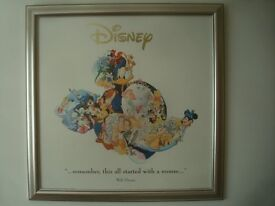 Mickey Mouse Walt Disney World Framed print 25 inches wide by 25 inches tall