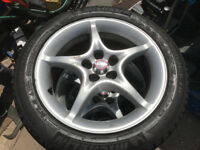 5 stud set of alloy wheels with all good tyre