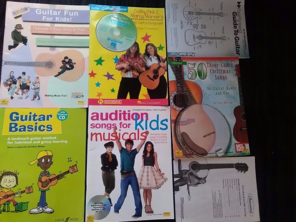 Kids Guitar Basics Books Learn To Play Method CDs lot Christmas ...