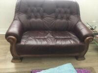 2seater real leather Chesterfield sofas