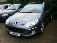 2005 05 PLATE PEUGEOT 407 HDI DIESEL ESTATE PANORAMIC ROOF NEW MOT ON OFFER AT £1295