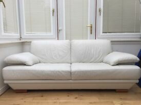 White leather Sofa and Chair
