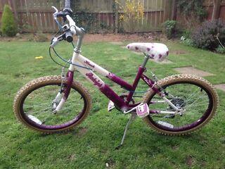 "Raleigh Krush girls bike 20"" wheels 13"" frame"