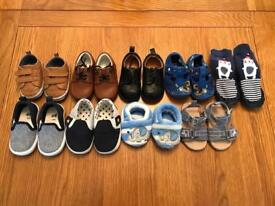 Baby boys size 2 shoes 9 pairs