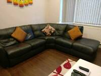 **BARGAIN** Stylish DFS Corner Sofa! Dark Brown Quality Upgraded Leather!
