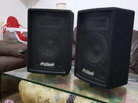 PROSOUND SPEAKERS studio monitor PAIR BOTH 200 WATTS