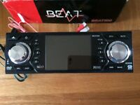 beat 500 car stereo - never used - dvd - vcd - usb - cdr - rds - etc - 12v adapter - mint condition
