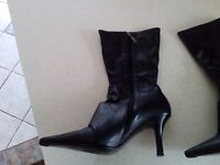 Womens Faith Boots size 7 Black leather