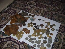 lots of old coins british and foreign