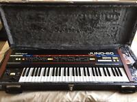 *Mint* Fully Working Vintage Roland Juno 60 Synth + Extras