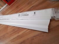 new /unused. 2 x kitchen cornice, 8 foot in legnth. white gloss effect