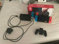 Nintendo Switch, Neon Blue and Red with Mario Kart 8 Deluxe