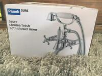 Brand New B&Q Plumbsure Azure Chrome Bath Shower Mixer Taps