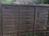 Six Garden fence panels 5ft (H)6ft (W) £20