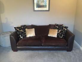 Sofa (4 seater) dark brown from DFS