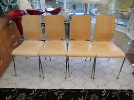 Chairs with Chrome legs suitable for Dining Room,Kitchen,Functions,Halls etc (Set of 4)