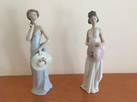 Pair of Lladro figures for sale in Lanchester