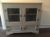 Stunning cabinet painted in Annie Sloan Paris grey