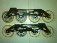 Seba GT 90mm skate frames with Seba 90mm 82A wheels and ILQ5 bearings