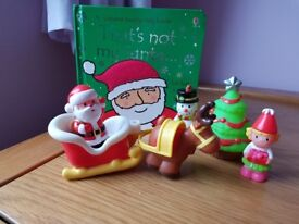 ELC HAPPYLAND CHRISTMAS FIGURES PLAYSET & THATS NOT MY SANTA BUNDLE