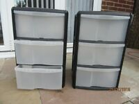 Storage units - 3 drawer