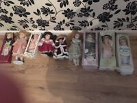 Porcelain dolls job lot brand new
