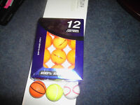 12 new golf balls plus 3 fun balls
