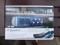 Audio box with studio one daw