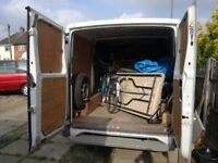 van and man -large luton with tail lift or small van