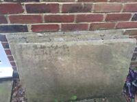 Natural stone paving slabs