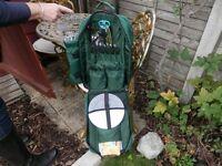 GREEN PICNIC HAMPER / RUCKSACK COMPLETE