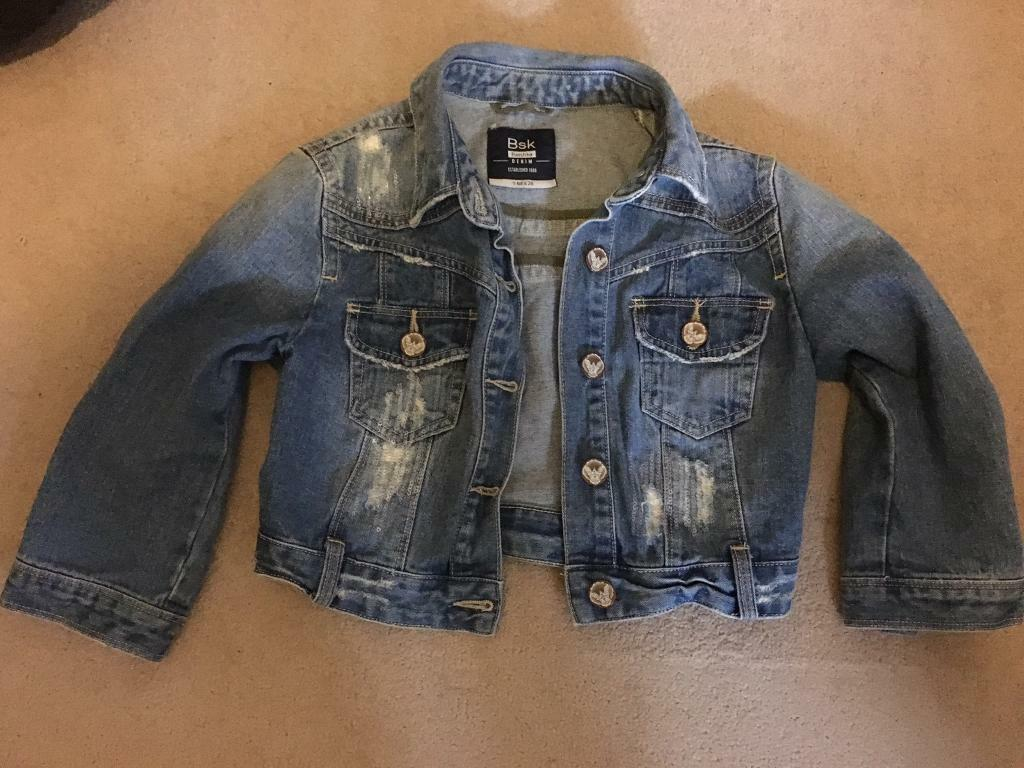 Bershka(part of Zara) crop summer denim jacket size 8