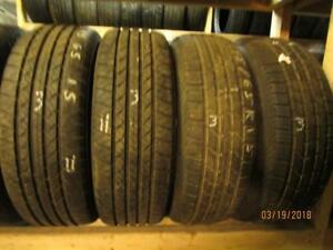 195/65R15 SET OF 4 USED KELLY A/S TIRES