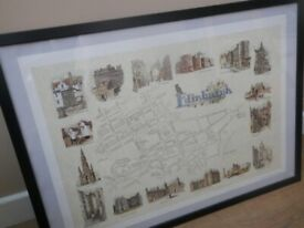 "Framed print of Edinburgh landmarks by ""Those were the days."""