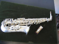 Amazing Saxophone Henri Selmer Paris Balanced Action Alto 100% Original Silver! All New Pads! 1941