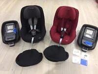 Maxi Cosi Family Fix base and Pearl car seat (2 available)