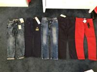 Various of boys jeans