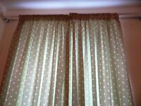 Curtains Lined, Sage colour £50