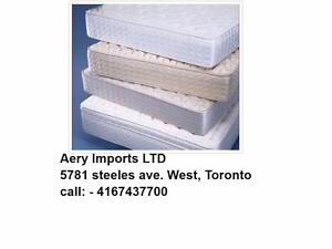 Furniture warehouse:Mattress,  Dinette, Bedroom sets, Coffee tables, Custom made also available Call 4167437700