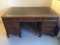Antique Leather Writing Desk