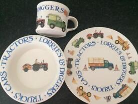 Tractor diggers and lorries set