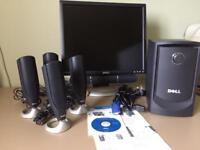 "Dell 19"" Monitor with surround sound"