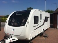 SWIFT CHALLENGER SE 565 ,4 BERTH INCLUDING 2 AWINGING ONE FULL AND ONE HALF & ALL ACCESSORIES