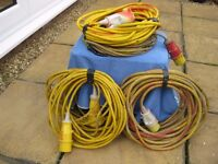 110 v electric leads 14 m or 46 ft long, can sell singly at £4 00 each.