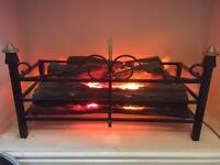 Light up fire grate one of a kind