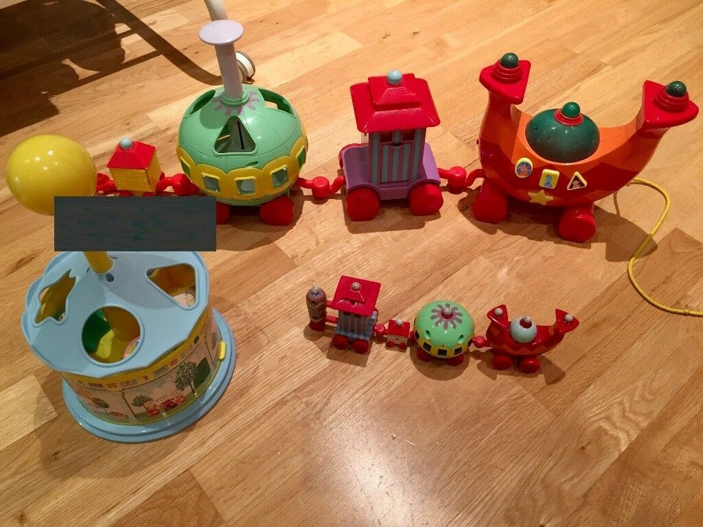 Two Ninky Nonks and one spinning shape sorter