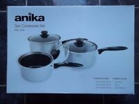 Non-Stick Cookware set (Anika) - Kitchen Saucepans With Lids -16 to 20cm